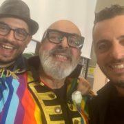 con Mirko Casadei per Andrea Barbi Show in diretta TRC Modena