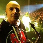 Dal palco, con gli Stadio