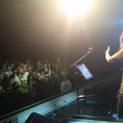 dal palco concerto fanclub Cristina d'avena 14 ottobre 2015 Bologna